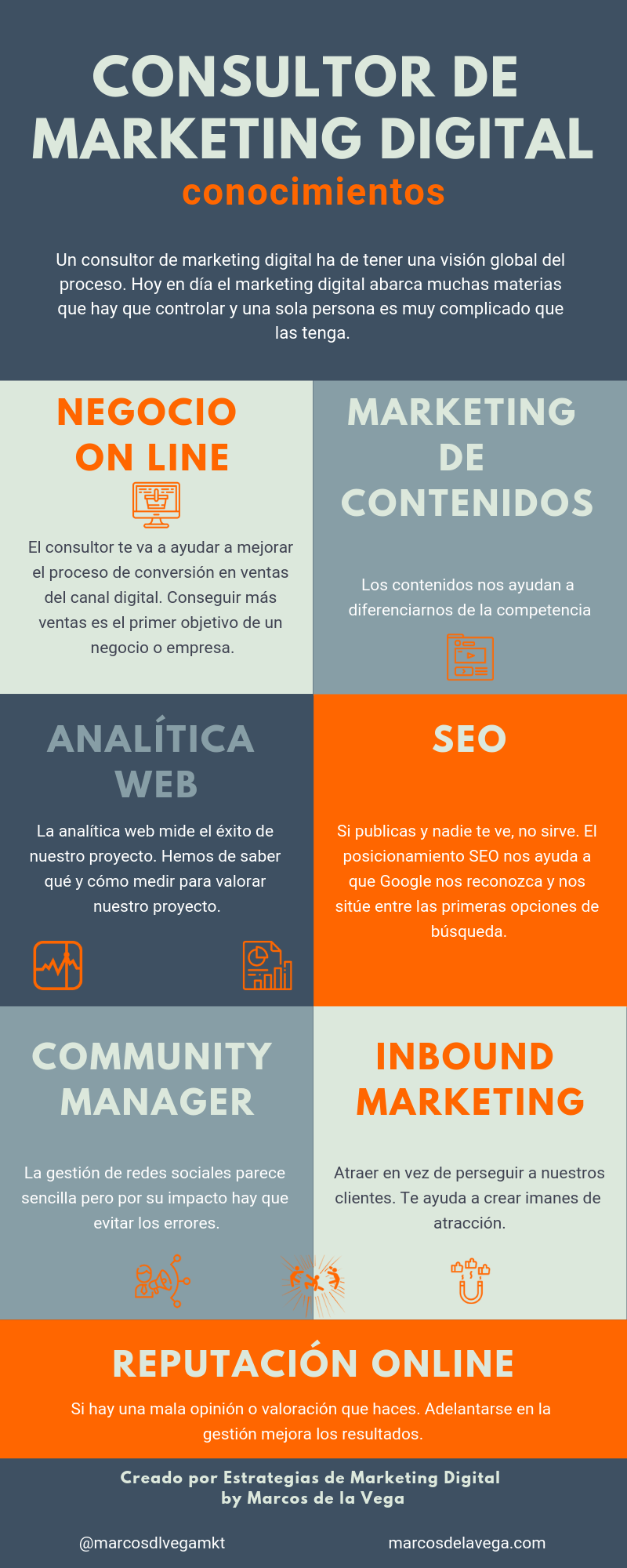 Consultor de Marketing Digital: conocimientos #infografia #infographic #marketing
