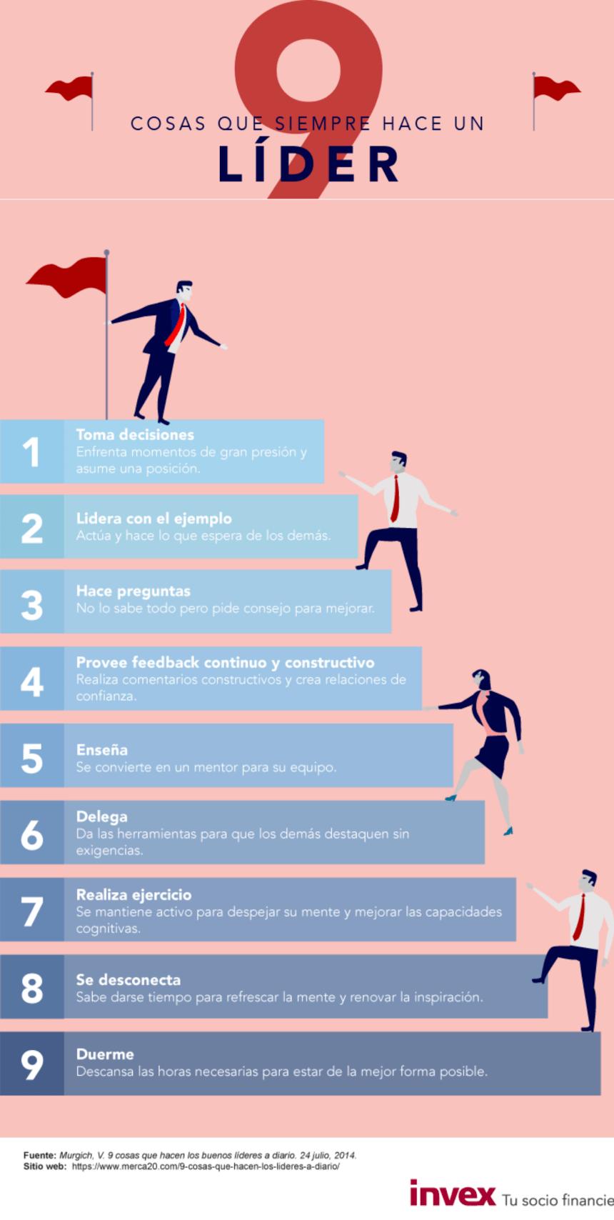 9 cosas que siempre hace un líder #infografia #infographic #leadership