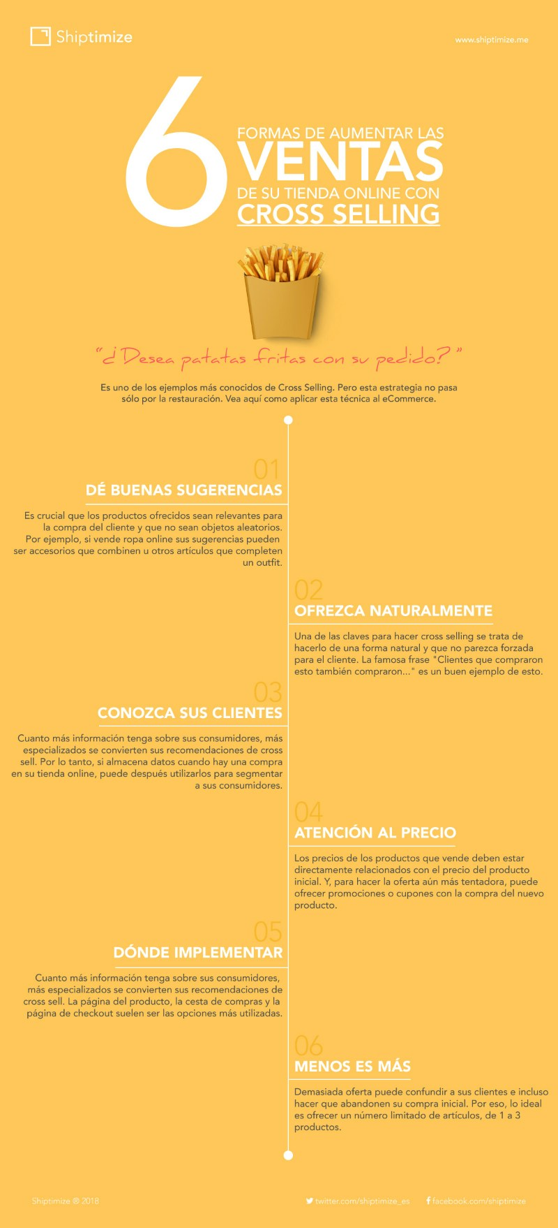 6 formas de aumentar las ventas de tu tienda online con Cross Selling #infografia #marketing