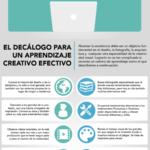 Decálogo para una aprendizaje creativo efectivo #infografia #infographic #education