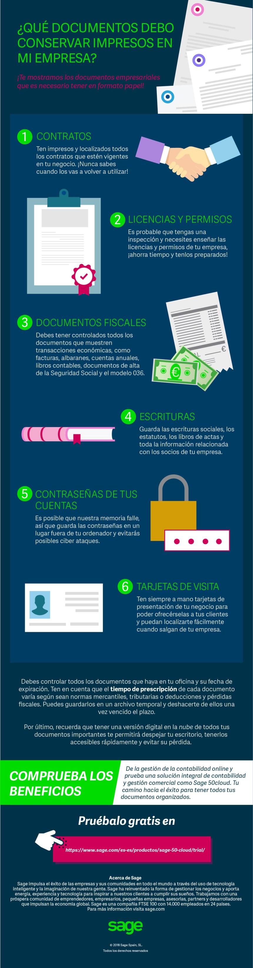 Qué documentos debo de conservar impresos en mi empresa #infografia #infographic