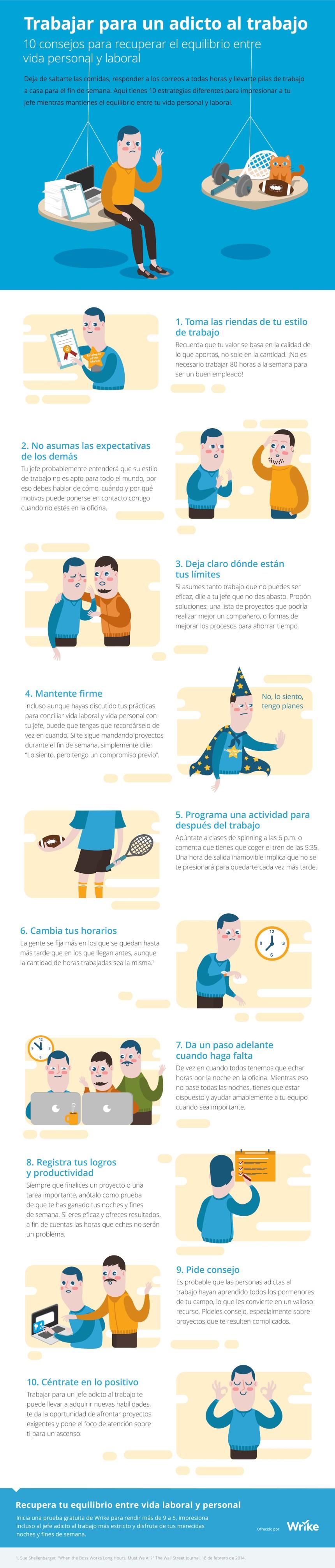10 consejos para recuperar el equilibrio entre tu vida personal y laboral #infografia #empleo