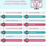 16 errores que no debes cometer en Redes Sociales #infografia #infographic #socialmedia