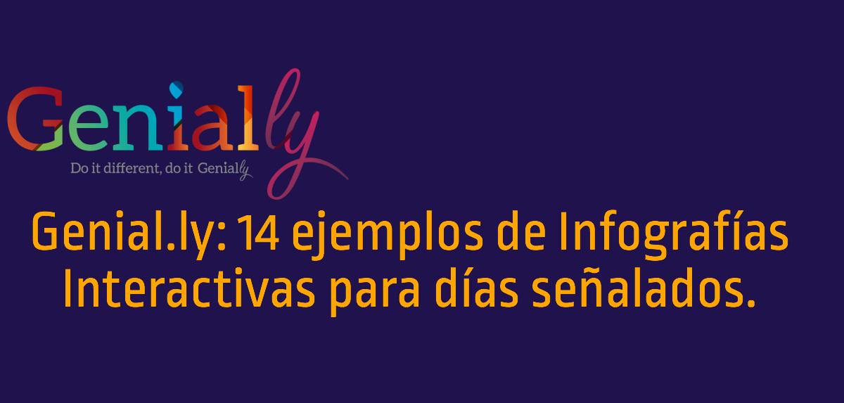 14 ejemplos de Infografías interactivas para días señalados con Genial.ly #infografia #design
