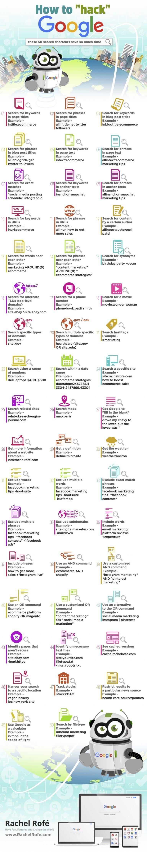 Google: 50 formas de usar operadores para Buscar #infografia #infographic