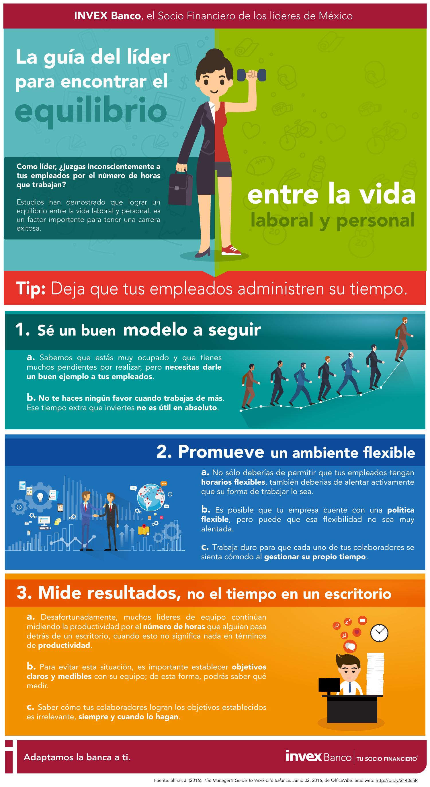 Guía del líder para encontrar el equilibrio entre la vida laboral y personal #infografia #rrhh