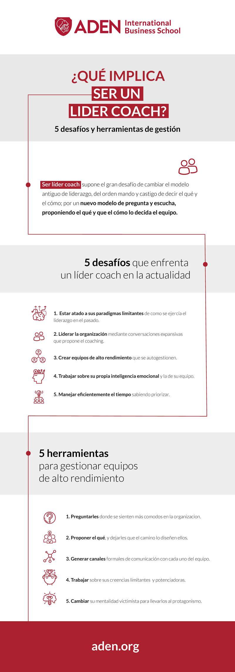 Qué implica ser un Líder Coach #infografia #infographic #leadership
