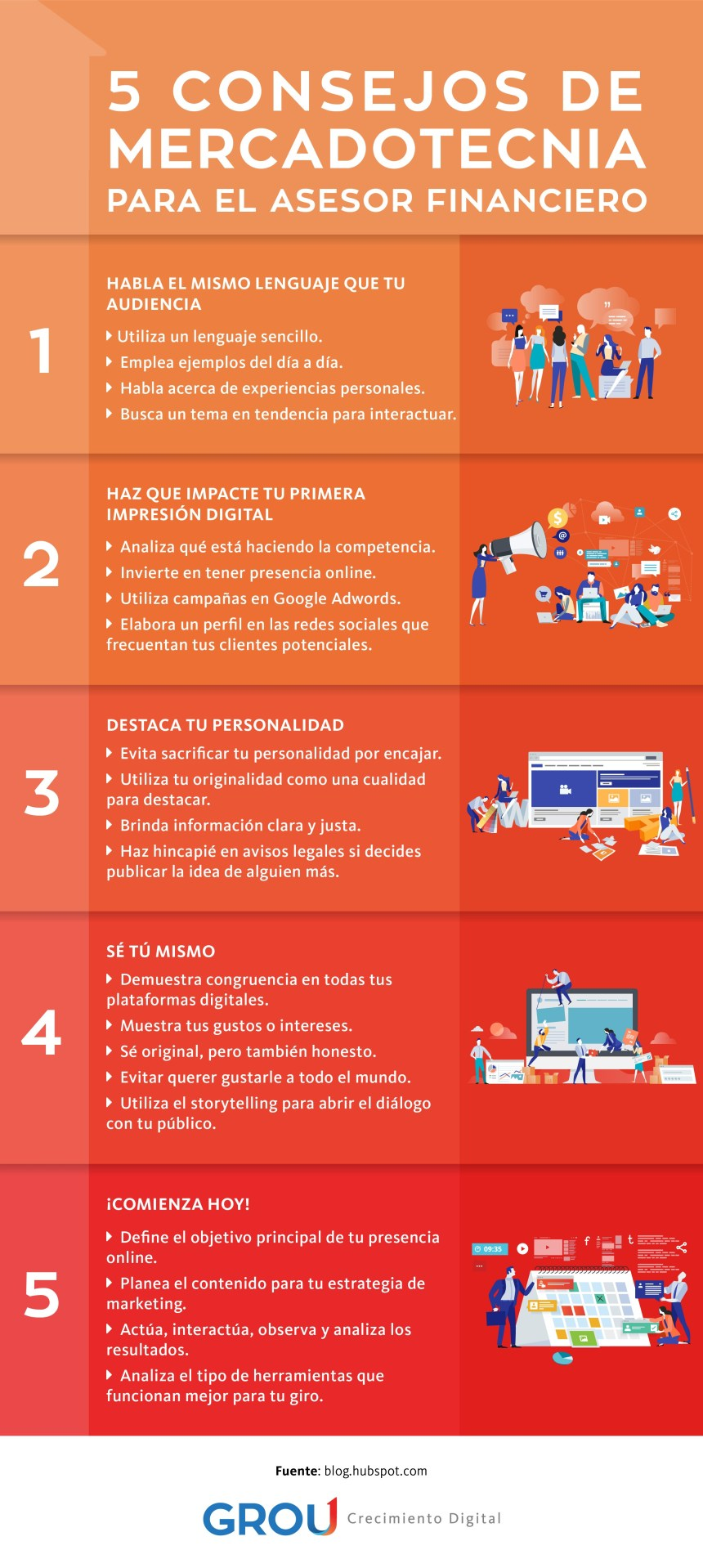 5 consejos de marketing para el asesor financiero #infografia #infographic #marketing