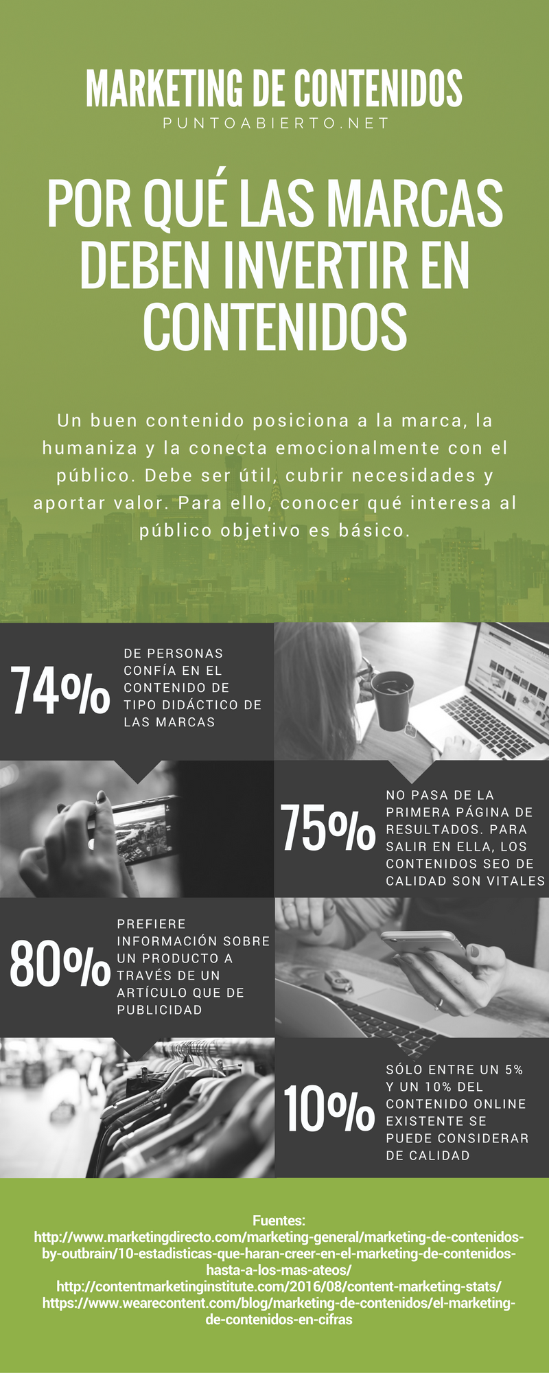 Marketing de contenidos para empresas #infografia #infographic #marketing