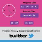 Mejores días y horas para publicar en Redes Sociales #infografia #infographic #socialmedia