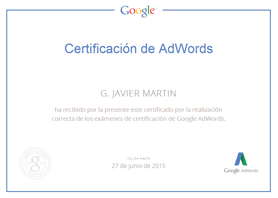 Certificacion Google AdWords