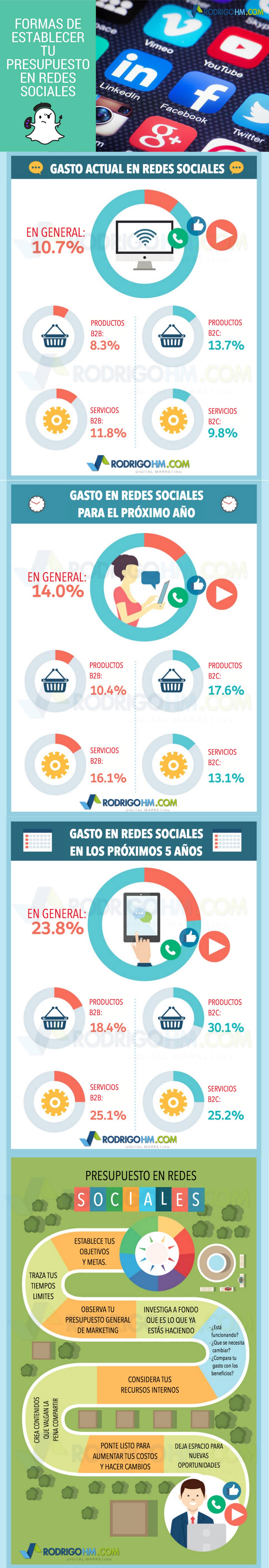 Formas de establecer tu presupuesto en Redes Sociales #infografia #infographic #socialmedia
