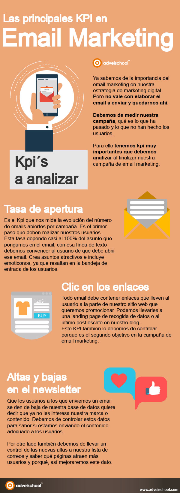 Principales KPI del email marketing #infografia #infographic #marketing
