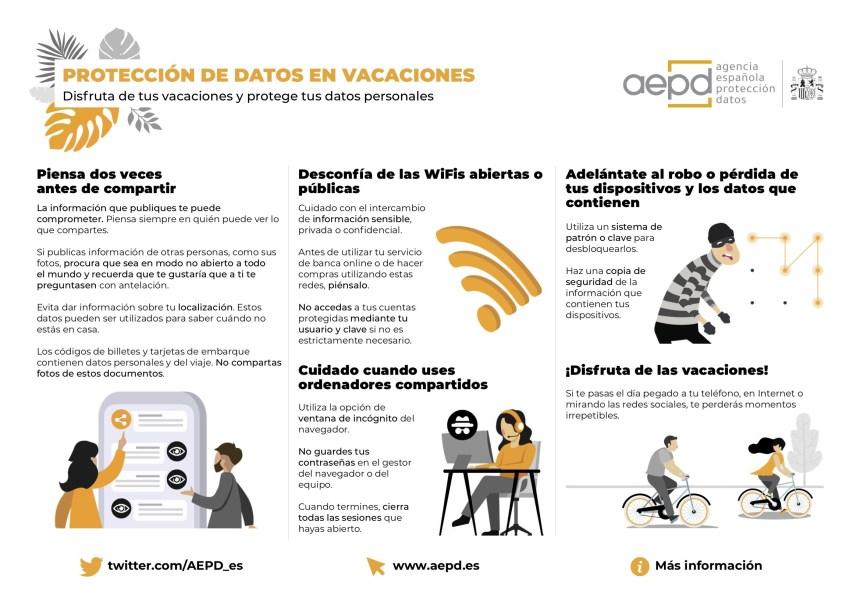 Protección de datos en vacaciones #infografia #infographic #rgpd