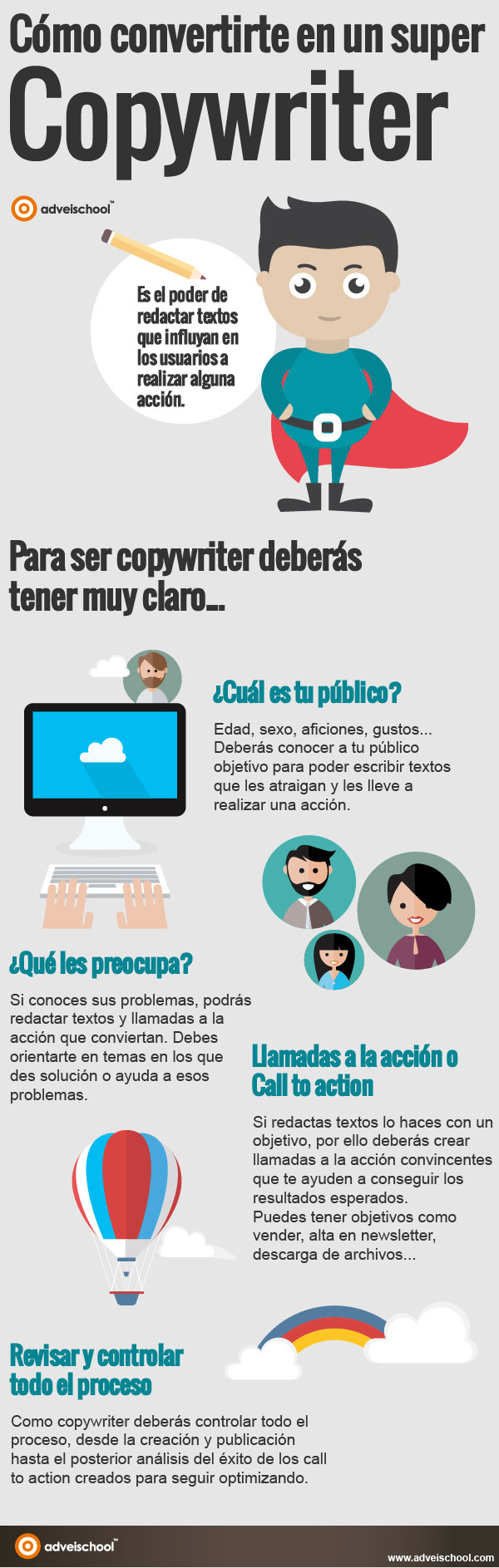 Cómo convertirte en un super copywriter #infografia #infographic #marketing