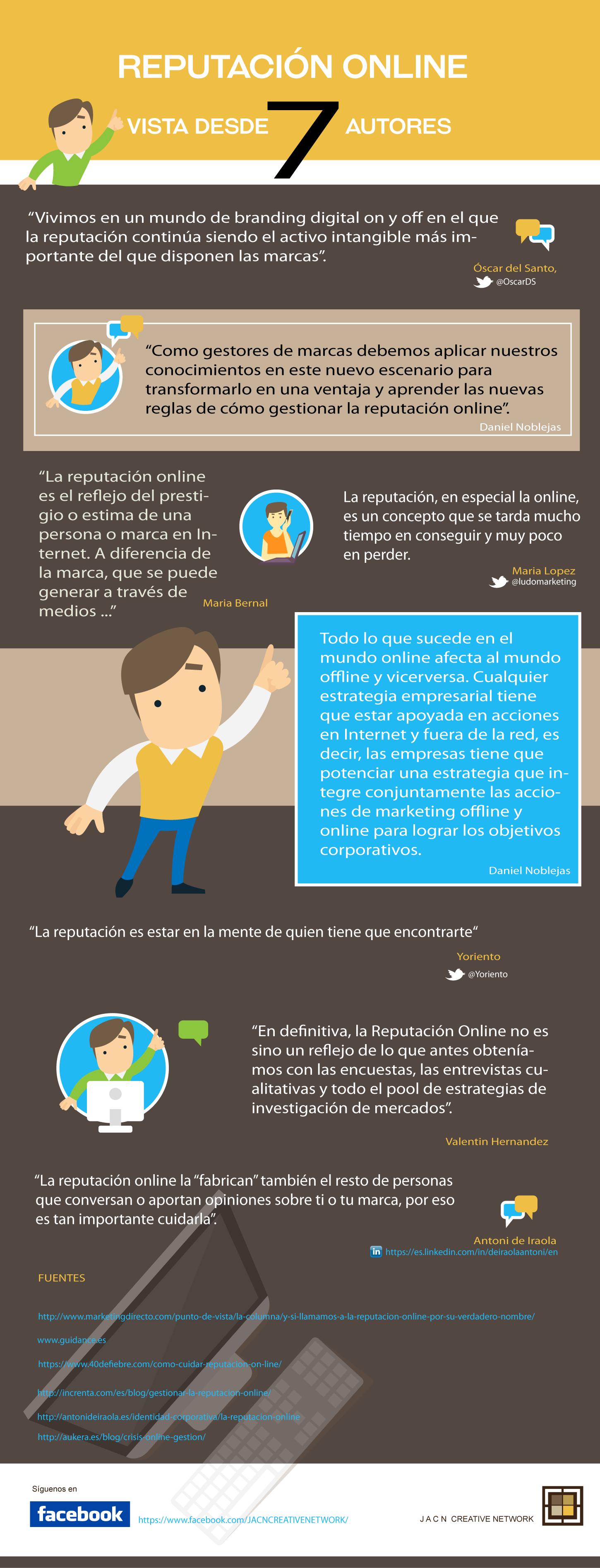 7 definiciones de reputación online #infografia #infographic #marketing