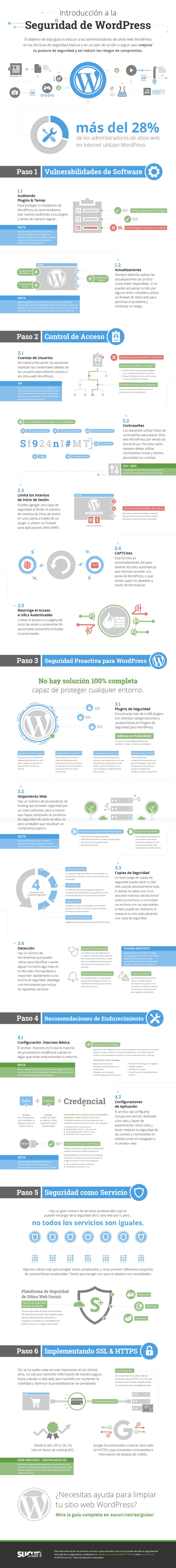 Introducción a la seguridad de WordPress #infografia #infographic #socialmedia