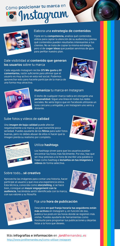 Cómo posicionar tu Marca en Instagram #infografia #infographic #socialmedia