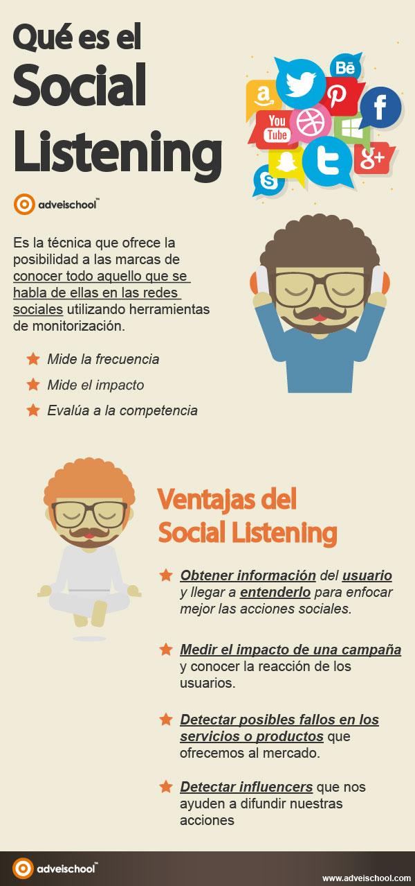 Social listening: qué es y ventajas para tu Marca #infografia #infographic #socialmedia