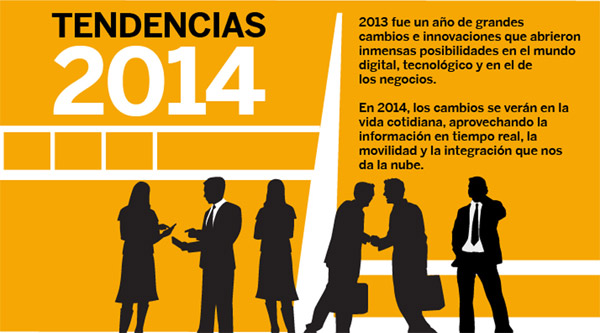 8 Tendencias digitales para 2014 #infografia #infographic