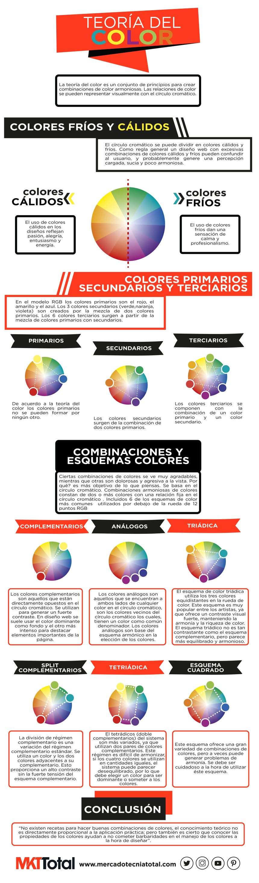 Teoría del color #infografia #infographic #design