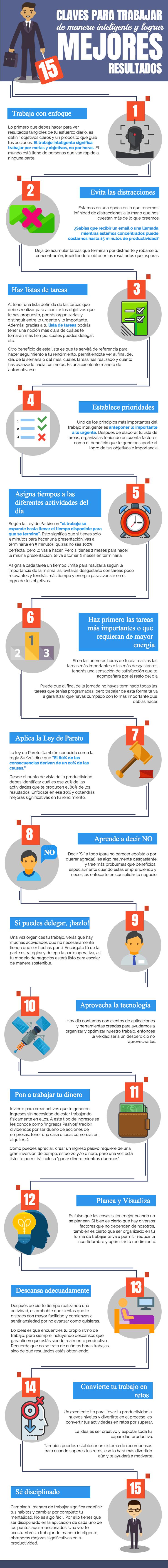 Trabaja inteligentemente y mejora tus resultados #infografia #infographic #rrhh