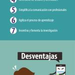 Ventajas y desventajas de las Redes Sociales en Educación #infografia #socialmedia #education