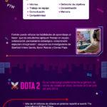 Videojuegos usados en universidades para potenciar habilidades profesionales #infografia #education