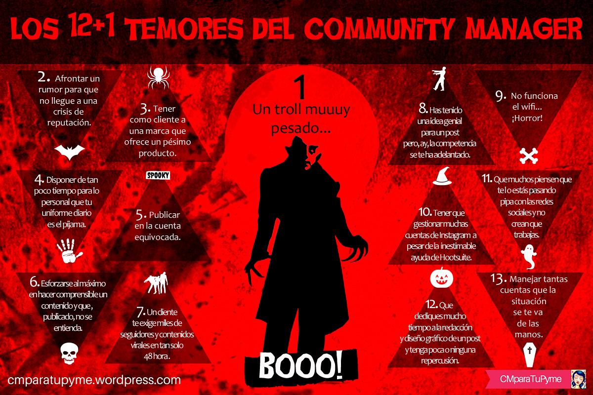 12+1 temores del Community Manager #infografia #infographic #socialmedia