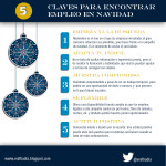 5 claves para encontrar trabajo en Navidad #infografia #infographic #empleo