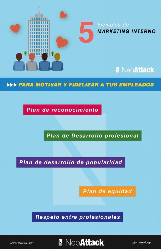 5 ejemplos de Marketing Interno #infografia #infographic #marketing #rrhh