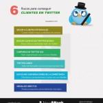 6 trucos para conseguir clientes en Twitter #infografia #infographic #socialmedia