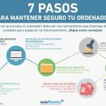 7 pasos para mantener seguro tu ordenador #infografia #infographic