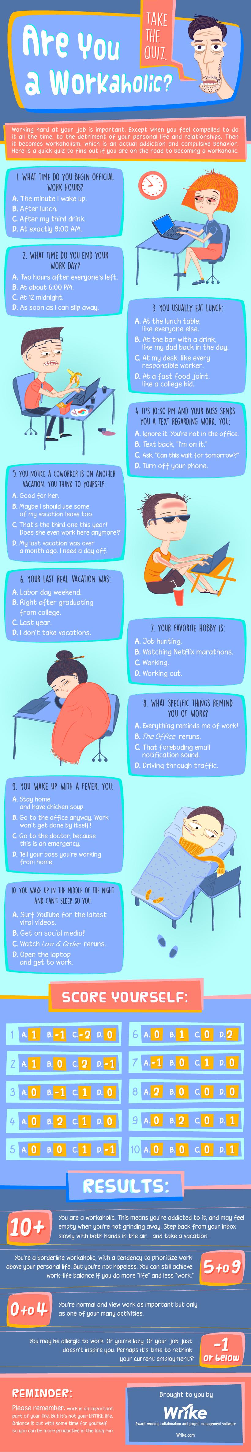 ¿Eres un workaholic? #infografia #infographic #rrhh