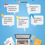 5 Errores Comunes al Empezar un Blog #infografia #infographic #socialmedia