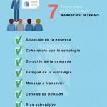 7 puntos clave para un correcto Marketing Interno #infografia #marketing #rrhh